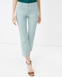 White House | Black Market Perfect Form Straight Crop Pants #whbm
