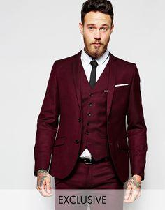Image 1 ofHeart & Dagger Suit Jacket in Birdseye Fabric in Super Skinny Fit