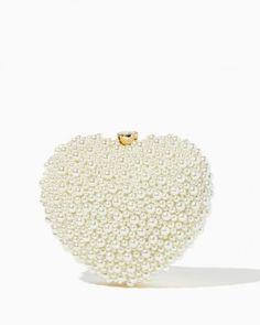 I Heart Pearls Clutch | Handbags - Valentine's Day RSVP | Charming Charlie