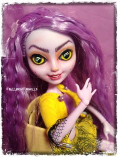 OOAK Custom Crazy Kitty Cheshire Ever After High doll by allaboutthedolls on Etsy
