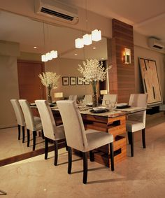 Stylish Budget Design Stylish Simple Dining Room – LiviMirrors double the visual space.