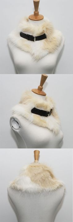 MYNYSTYLE | $19.99Color Block Belt Detail Fluffy Faux Fur Snood. Perfect for the coming cold winter.
