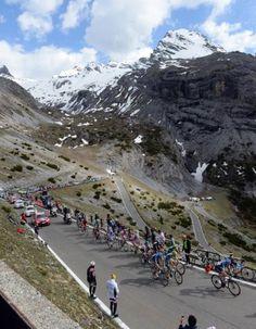 2012 Giro d'Italia stage 20  The Maglia Rosa group climbs the Stelvio on stage 20 of the 2012 Giro d'Italia. Photo: Graham Watson   www.grahamwatson.com