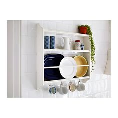 Get the best of both worlds at IKEA! Organize and display with the STENSTORP plate shelf.