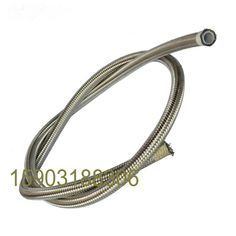 """4AN 20/"""" Stainless Braided W// Black PVC Coating PTFE Brake Line Straight x 90°"""