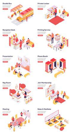 Web Design, Sign Design, Architecture Concept Diagram, Diagram Design, Isometric Design, Workplace Design, Co Working, Architecture Portfolio, Infographic Website