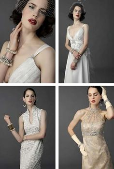Vintage Glamour Themed Wedding Gowns from Culture Bridal Couture   Poptastic Bride