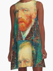 Van Gogh tessellation A-Line Dress  by Scar Design #summerclothing #summervacationsdress #beachdress #beach #summerfashion #giftsforher #gifts #giftsforteens #summergifts #womensfashion #hipster #colorful #style #swag #sunset #sunsetdress #dress #summerdress #summer2016 #buydress #Alinedress #buydresses