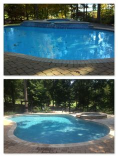 Don T Like The Coping Pool Spa Renovation Blue Lagoon Pebble Tec Travertine Stacked Stone Facing On