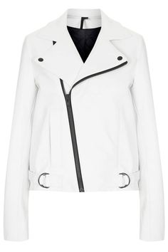 WANT A VEGAN VERSION  - WHITE LEATHERETTE JACKET   The 15 Best Leather Jackets Right Now
