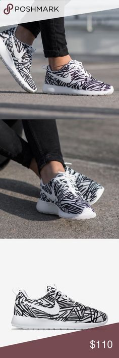 Nike - Roshe One Print Nike Roshe One Print in white and black. New in