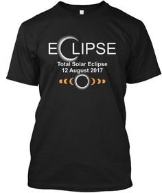 Total Solar Eclipse Shirt 21 August 2017 Black T-Shirt Front