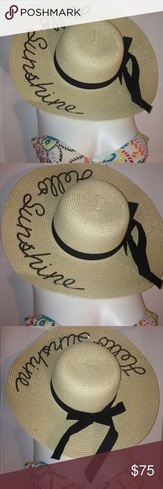 ❤️✨Bow Embellished Hello Sunshine Sun hat Bow Embellished Sand Straw Hat Hello Sunshine Absolutely Gorgeous Breathtaking anniversary birthday date night gift idea cute girly  party  womens cocktail work school office career weddings  classy pretty style trend runway model girl woman womens fashion trend trendy hot popular sexy vacation cruise beach Accessories Hats #women'sfashiontrends #sunhatclassy