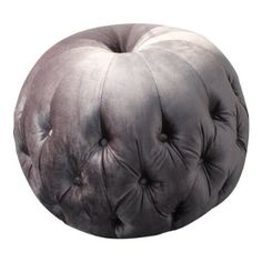 Footstool/ Pouffe/Pod in Luxurious Silver Soft Chenille Fabric
