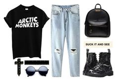 """Untitled #86"" by roxeyturner ❤ liked on Polyvore featuring Dr. Martens and NoHours"