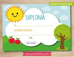 Image result for preschool diploma template