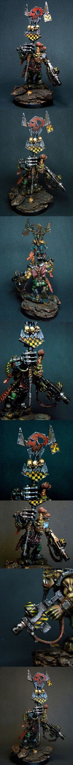 Orc with a power claw and banner Vaagh!
