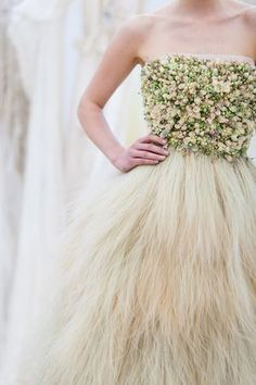 Real Flower Wedding Dress ~ From The Living Embroidery Collection by Zita Elze + Flower Design Academy… | Love My Dress® UK Wedding Blog