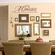 Memories Are Made Gathered Around The Table wall vinyl lettering kitchen decor