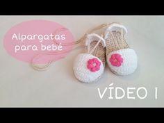 Sandalias o alpargatas para bebé tejidas a crochet (VÍDEO I) - YouTube