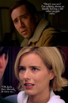 """They already do envy us..."" One of my favorite movie moments... ever. The Family Man (2000) + Nicolas Cage & Tea Leoni"