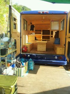 Icecream truck turned camping car