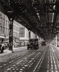 "Roger Schall - EL, ""New York"", 1935. This looks like the neighbourhoods I stay in when I visit NYC."
