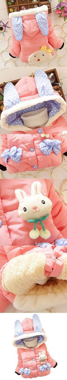 Kids Baby Girls Cotton Coat Winter Warm Jacket Outerwear