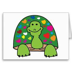 Hearts Turtle Card #turtle #card