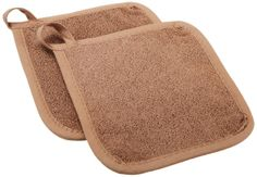RITZ Royale 2 PC Pot Holder Set Mocha $8.95 TOTAL! TOP BRANDS * LOWEST PRICES * FREE WORLD SHIPPING * CULINART WEBSITE: www.shopculinart.com