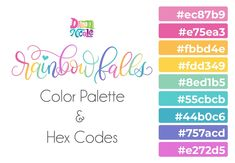 Grab the free color palette, check out the lettering pieces I created and make some of your own! Grab the free color palette, check out the lettering pieces I created and make some of your own! Rainbow Palette, Rainbow Colors, Lettering Styles, Hand Lettering, Lettering Tutorial, Rainbow Falls Nc, Hex Color Palette, Dawn Nicole, Theme Color