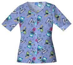 Owl Brush Every Day Tooth Scrubs - Cherokee 4749 Professional Wardrobe, Professional Look, Dental Scrubs, Cherokee Scrubs, Scrub Tops, Chiffon Tops, Men Casual, Owl, Nurses