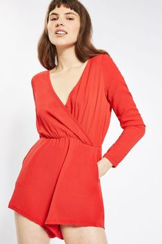 e06df89c1dc0 Glamorous Wrap Front Playsuit Red Size M UK 12 DH086 KK 06  fashion   clothing