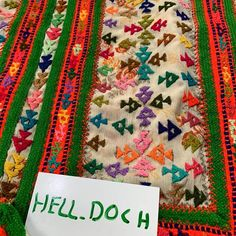 Hand Work Embroidery, Hand Embroidery Designs, Embroidery Art, Designer Bed Sheets, Fashion Details, Women's Fashion, Balochi Dress, Afghan Dresses, Embroidery Fashion