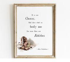 Harry Potter Quotes Poster – Magic Paperie Harry Potter Wall Art, Harry Potter Set, Harry Potter Quotes, Albus Dumbledore, Harry Potter Printables, Photo Printing Services, Printable Quotes, Quote Posters, Hogwarts
