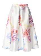 Womens **Luxe Multi Coloured Candy Floral Prom Skirt- Fl Multi