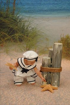 Baby on the beach.