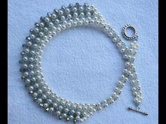 Como fazer um lindo colar de Cristais! Por Maguida Silva! - YouTube