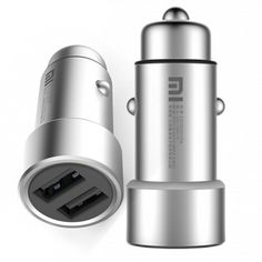 For Xiaomi Mi Car Charger Metal Universal Original Dual USB Quick Charge Adapter For iPhone 7 plus 5 5S SE 6 6S For Xiaomi Meizu