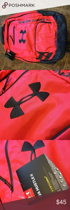 Under armour storm hustle 2 backpack NWT Nwt under armour storm hustle 2 backpack Pink chroma stealth gray see pics for details Under Armour Accessories Bags