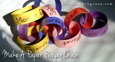 Make A Paper Prayer Chain for National Day Of Prayer