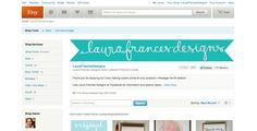 Etsy Shop Tips   laura frances design blog