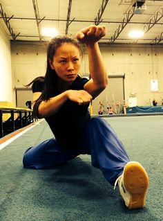 "Jade Xu, martial arts actress & world wushu champion. My kenpo instructor refers to this hand strike as a ""panther fist"" or a ""half fist"". I'm not sure if in kung fu they refer to it the same way or. Tai Chi, Martial Arts Styles, Martial Arts Women, Muay Thai, Karate, Jiu Jitsu, Poses Dynamiques, Shaolin Kung Fu, Female Martial Artists"