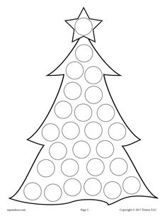 FREE Printable Christmas Tree Do-A-Dot Printable! Christmas dot coloring pages like this are perfect for toddlers and preschoolers to practice fine motor skills and more! Get all 10 Christmas Do A Dot Printables for FREE here --> www. Christmas Colors, Christmas Themes, Kids Christmas, Holiday Crafts, Christmas Ornaments, Christmas Music, Christmas Presents, Kids Crafts, Winter Crafts For Kids