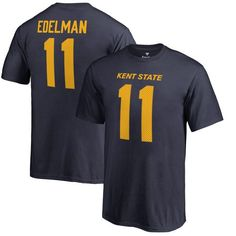 Julian Edelman Kent State Golden Flashes Fanatics Branded Youth College Legends Name & Number T-Shirt - Navy - $27.99