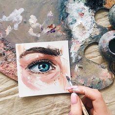 beautiful art by Viktoria Shilina Painting Inspiration, Art Inspo, Arte Indie, Artist Aesthetic, Eye Art, Art Sketchbook, Lovers Art, Painting & Drawing, Amazing Art