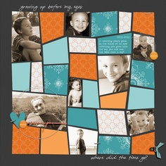 cool layout- looks like a template  Project - Where did the time go?  by Jennifer Hignite posted at 2peas