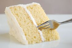 In this recipe for a basic vegan white cake, the apple cider vinegar replaces the egg and will help make sure your white cake is light and fluffy.