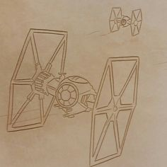 Original swivel knife cuts on the Star Wars The Force Awakens tablet cover. So many little details are in this hand tooled leather case. #TheLeatherGeek  Corey Christopher