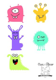 Monster party pritables